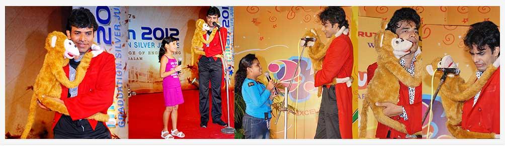 Ventriloquist aladin comedy show Cochin Kochi Kerala India