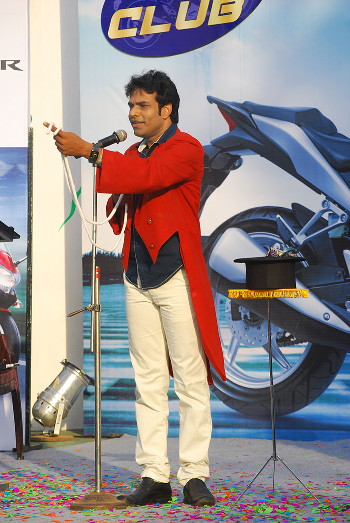 magic show for Honda motors, Jimkhana Club, Cochin, Kerala, India